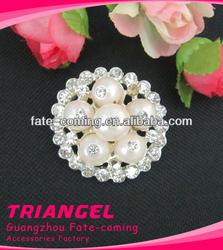 Hot Sale Wedding Pearl Rhinestone Brooch For Garment