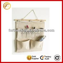 Home wall hanging linen storage bag jute storage bag