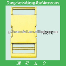 Bags parts and accessory light gold metal release bag buckle