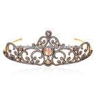 Gold Wedding Tiara, Diamond Gold Tiara, Princess Tiara Crown, Gemstone Carving Tiara , Gold Tiara Jewelry, Miss World Tiara