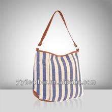V485-New product for 2014, canvas shoulder bag, ladies fashion handbag manufacturer