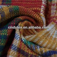 13*13 multicolor soft plaid slub cotton yarn dye fabric