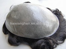 High quality natural hairline toupee for men/pu injection toupee