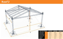 Portable galvanized roof truss with TUV certification