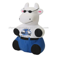 PU cool cow, anti cool bull stress ball supplier, Foam cat stress balls