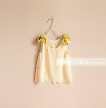 *Whole sale *child clothes HZ luomai 2013 Girls vest georgette Camisoles Hot sale