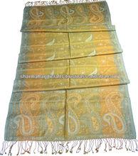 de seda de lana fina de color de múltiples chales paisley