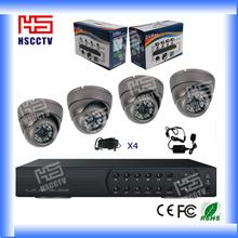 Wholesale 4CH CCTV System H.264 DVR 4 IR Waterproof Camera cctv security system kit