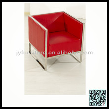 stainless steel red leisure sofa XP-115-1
