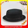 Clásico 100% negros sombreros como la empanada de cerdo en Alipay
