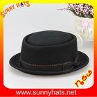 Classical 100% wool felt men pork pie hats black in stock Paypal