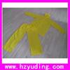Outdoor Yellow Pvc Rain suit Raincoat Rainwear For Adult