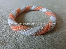 crochet bangle crochet bead bracelet beaded bangle