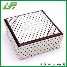 China wholesale custom gift box polka dot