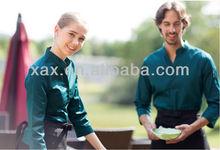 New style for waiters waitress restaurant uniforms