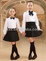Uniforme escolar para niños con camisa y falda/100 camisas escolares de algodón/camisas blancas para uniforme escolar