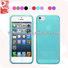 Blue Soft Matte and Glossy TPU Case for iPhone 5 5S, Stock Sales with Pay Pal Accept