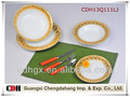 Shine or, crokey design forme ronde or, décalque en céramique vaisselle
