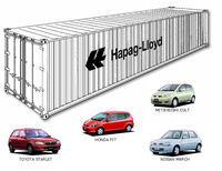 Japanese Used Small Cars in Container [6 cars] [Right-hand Drive]