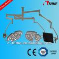 Lssl- 7255s cabezas dobles quirúrgica led luz de techo con hd cámara de vídeo del sistema