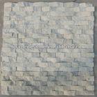 Mushroom waved white stone tiles