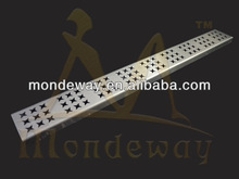 Popular stainless steel 304 drain cover LUCKTY STAR PATTERN by laser cutting SHINING or BRUSHED FACE WITH HIGH QUALITY