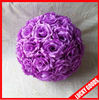 dark purple hanging fashion flower ball/purple kissing ball
