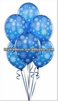 11 inches-Wholesale Navy Blue Snowflakes Non Latex Balloons Christmas Round Latex Free Balloon
