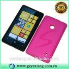 Fashion S line TPU mobile phone case for Nokia Lumia 520