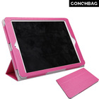 Newly arrival! Standing leather shinny hotpink ultra slim leather stand case cover for ipad air Paypal accept