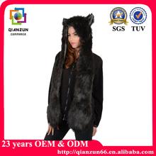 2015 Faux Fur Winter Scarf Gloves Hat Unisex Xmas Spirit Animal Hood