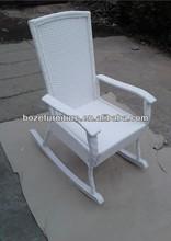 white color rattan rocking chair / leisure rattan rocking wicker chair