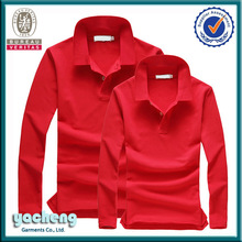 2015 fashion couple polo shirt cotton wholesale clothing ladies&men' long sleeved polo shirt
