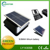 Solar attic fan square solar powered exhaust fan with storage battery