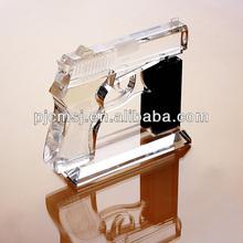 vivid crystal gun model for home decor with base