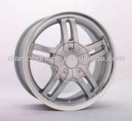 Hot sale spoke car wheel rim with polished lip (ZW-H509)