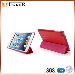 Nice Triple-folded mini leather case for ipad