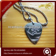 popular item Guitar Plectrum Necklace metal Stainless Steel Pendant Necklace for guitar picks lover friend
