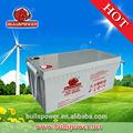 Agm 12v 200ah deep cycle bateria solar para a energia solar/sistema de vento