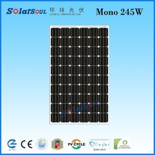 high efficiency 245w monocrystalline pv solar panel dealers solar cell price with TUV UL CE IEC