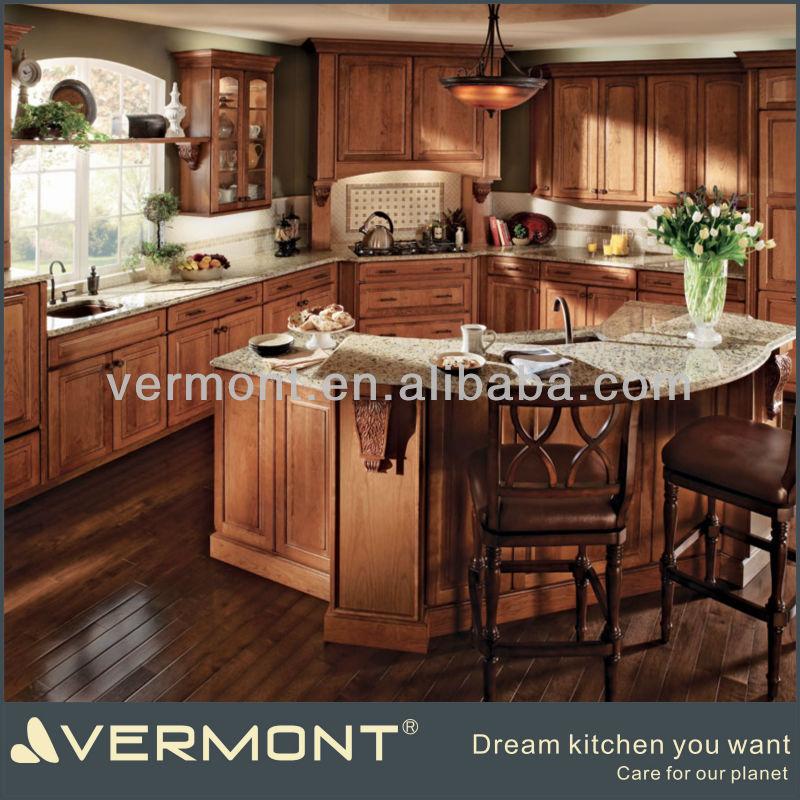 Amerikan mutfak mobilya klasik for V shaped living room