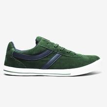 uomini scarpe di tela classica colore verde scuro