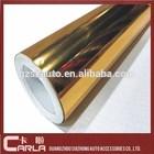 1.52*30m roll gold color PVC chrome film car body vinyl sticker