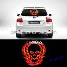 40x30cm Car Music Rhythm Fire Head Flash Light Lamp Sound Activated Equalizer