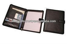 ADACF - 0004 a5 leather conference file folders / promotional portfolio folders presentation / personalized padfolios