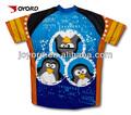 sublimação curiosos pingüins jersey de ciclismo para mulheres impressão engraçado