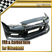 For Mitsubishi Lancer Evolution EVO 10 FRP Carbon Fiber VA-Style Full Wide Body Front Lip with diffuser