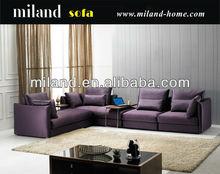 2014 modern popular purple sectional fabric sofa