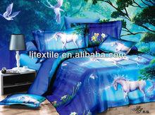 100% polyester elegant unicorn design 3d disperse printed home textile/bed set/bed linen/4 pcs bedding sets,made in Nantong