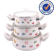 2013 3pcs procelain enamel ceramic clay cooking pot